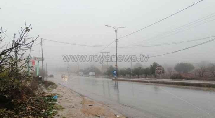 Rainfall in Ajloun this morning