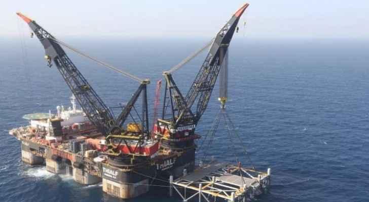 Israeli occupation's Leviathan field begins pumping gas towards Jordan