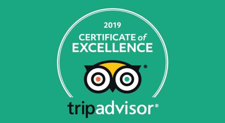 Buffalo Wings & Rings wins a TripAdvisor Certificate of Excellence 2018-2019