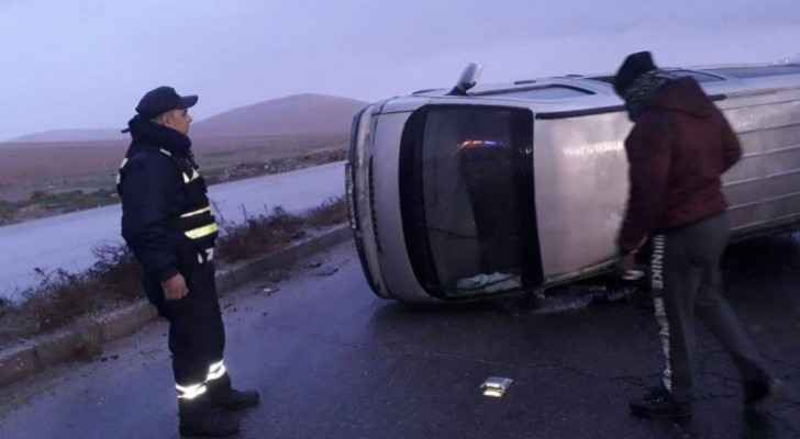 CTD: Six road accidents occurred in Jordan this morning
