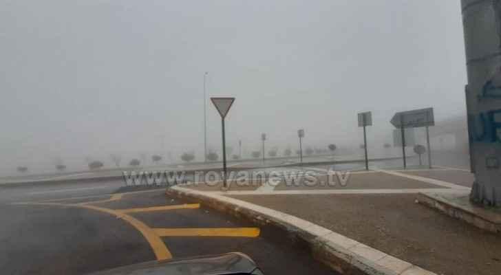 Al Nahda Circle in Amman this morning