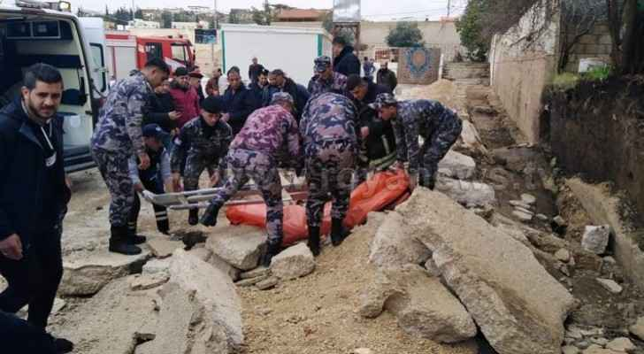 Collapsed school wall in Irbid crushes three workers to death, leaves one injured