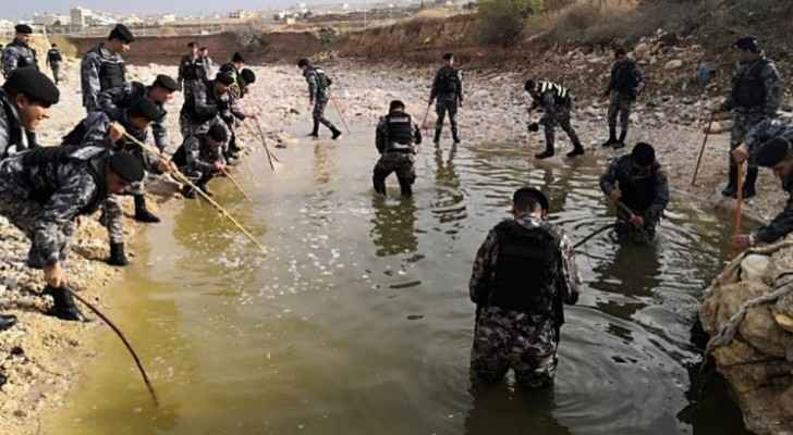 CDD cadres search for man swept away by flooding in Zarqa for the seventh day in a row