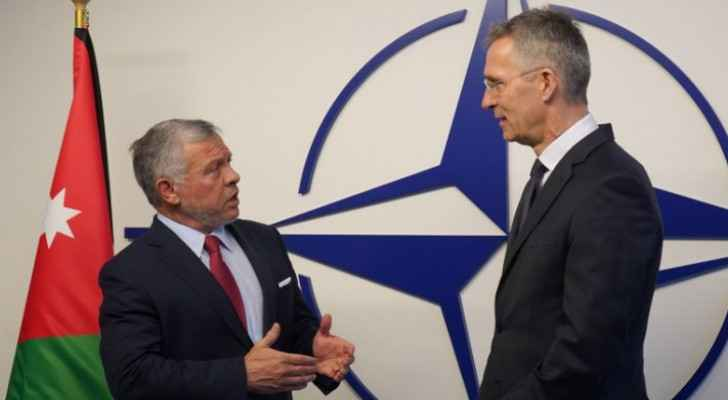 King meets NATO secretary general