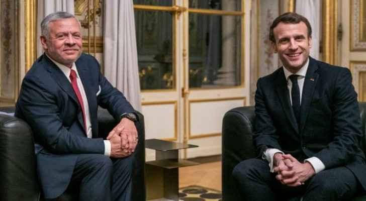 King, French president discuss ties, regional, international developments