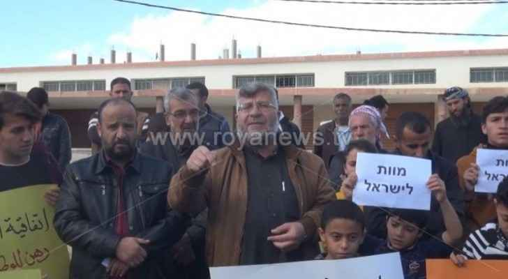 Dozens protest in Ma'an against Jordan-Israel gas agreement