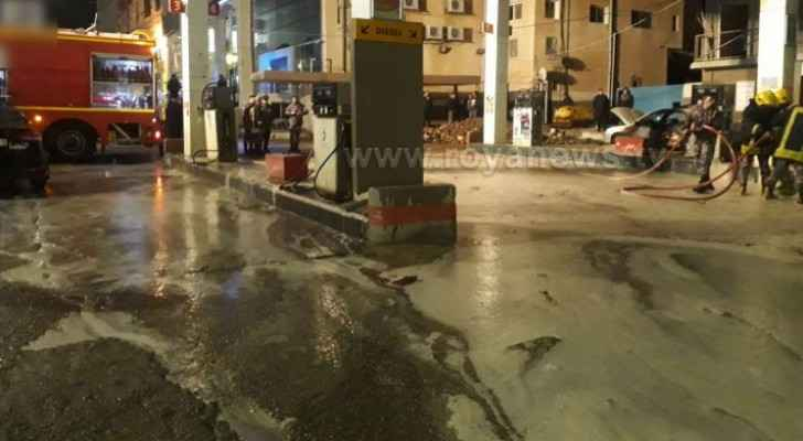 Gas station fire extinguished in Karak