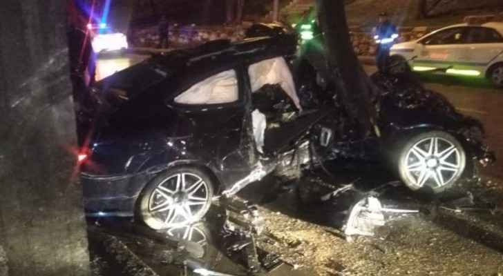 Horrific road accident leaves one dead, another injured