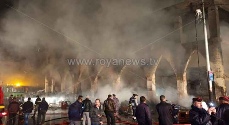 CDD launches investigation into major fire in Downtown Amman