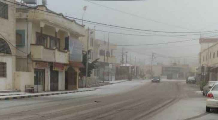 Light snow in Petra this morning