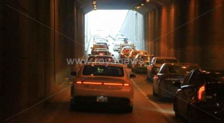 Heavy traffic jam in Amman streets this morning