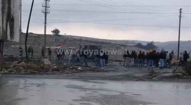 Violent clashes between Israeli troops and Palestinians in Al-Bireh