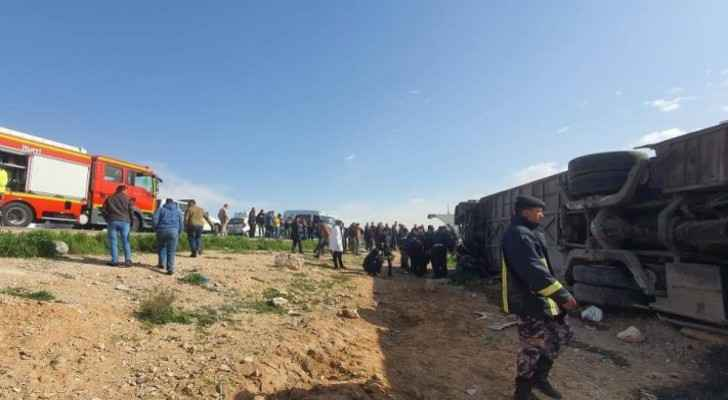 Number of people injured in Zarqa-Mafraq road accident rises to 41