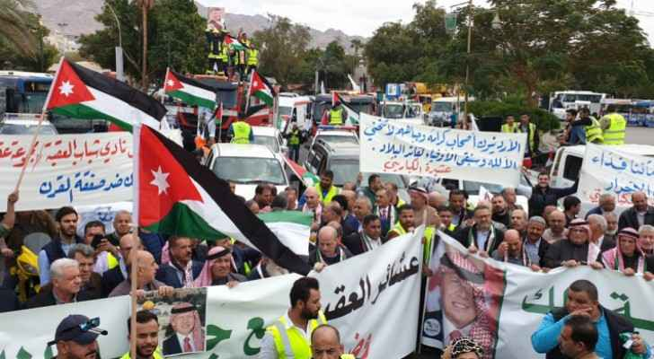 Mass march in Aqaba in support of King's stance on Jerusalem