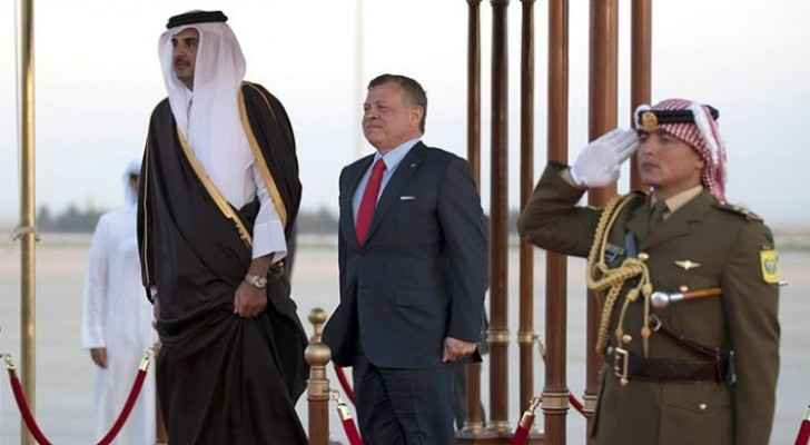 King to hold talks with Qatar Emir tomorrow