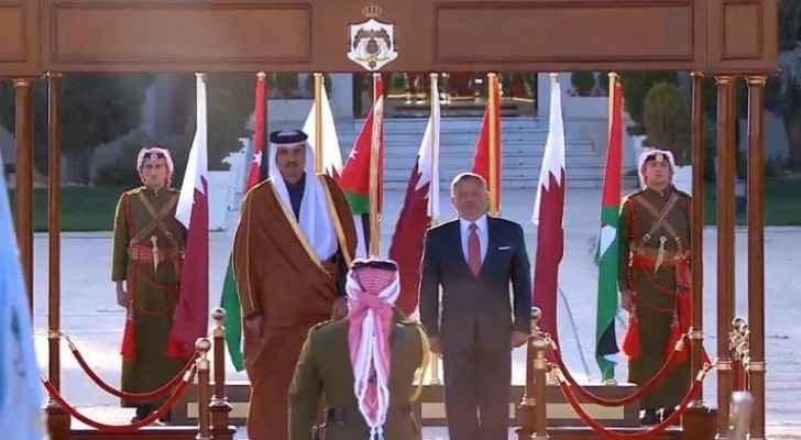 King receives Qatari Emir at QAIA