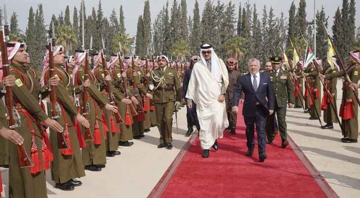 King bids farewell to Qatari Emir