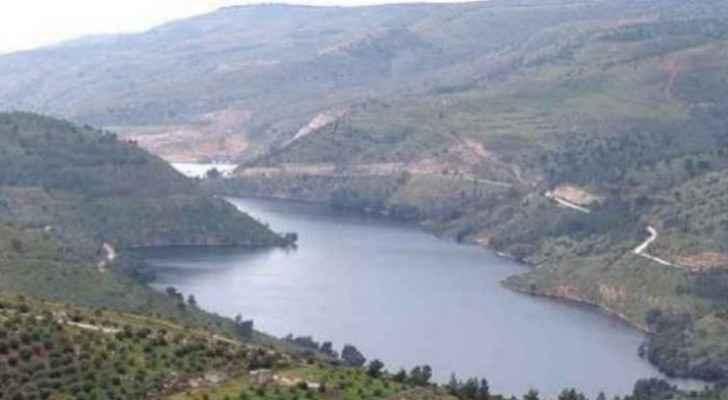King Talal Dam in Jerash overflows