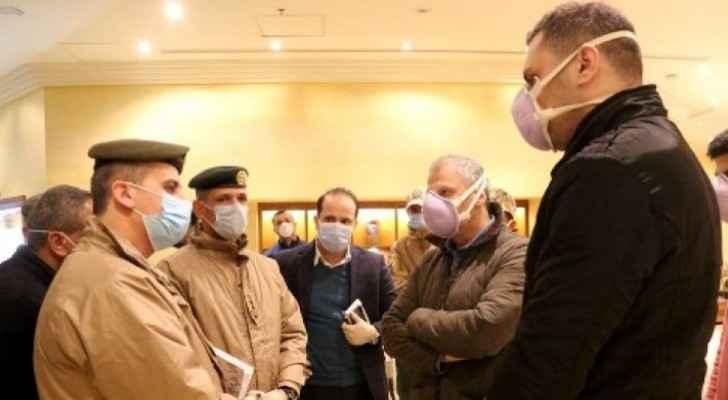 JAF inspect preparedness of hotels used as quarantine centers in Amman