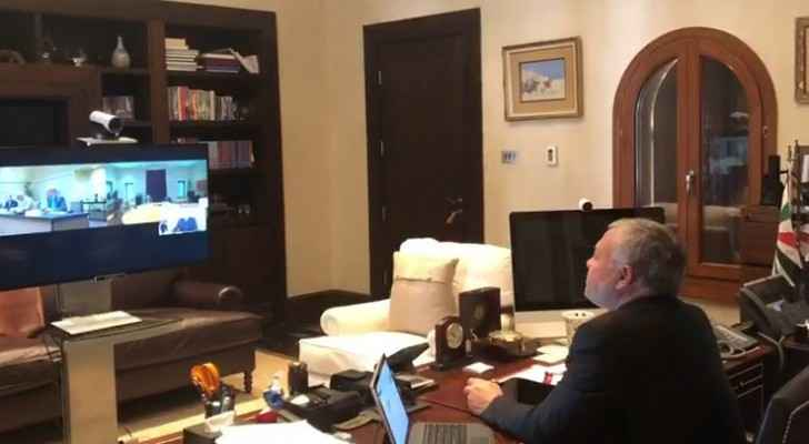 King, via teleconference, chairs follow-up meeting on measures to counter COVID-19
