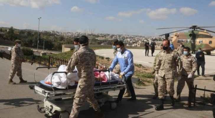 Jordanian injured in KSA transported to Jordan by royal decree