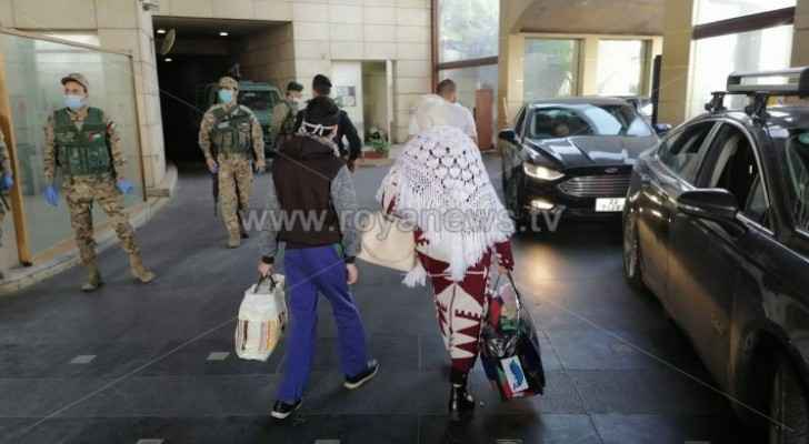291 people quarantined at a hotel in Amman shall be tested tomorrow to be discharged