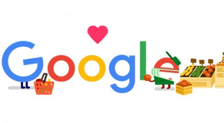 Google Doodle thanks grocery workers