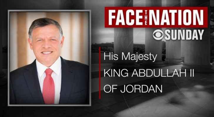 King speaking to CBS on Jordan's efforts in stopping coronavirus in Middle East tomorrow