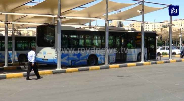 Amman Bus to operate at a rate of 30% as of Wednesday