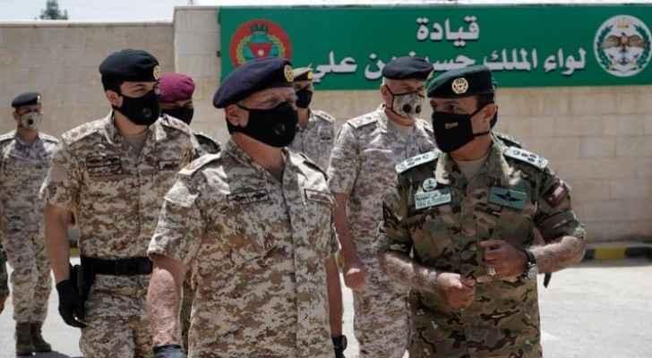 King visits King Hussein bin Ali Brigade command