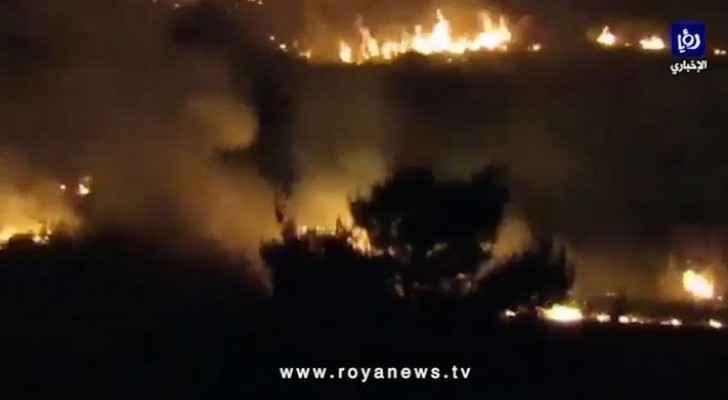 Watch: Fire breaks out in Jerash archaeological site