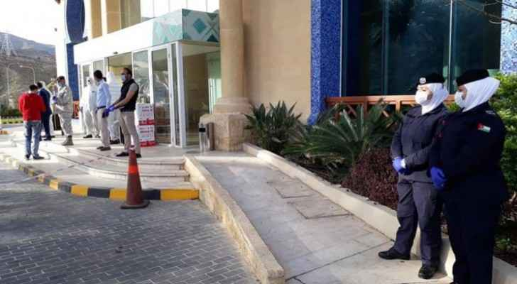 23 people quarantined at Amman hotels have coronavirus, all quarantined in Dead Sea evacuated