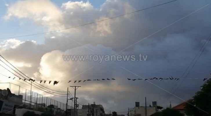 Cold air mass affects Jordan today