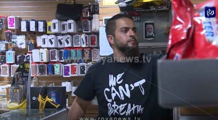 Shop owner Mahmoud Abu Mayyaleh