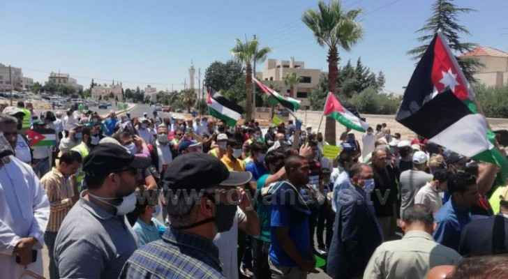 Protestors condemn Israeli annexation plans outside US Embassy in Amman