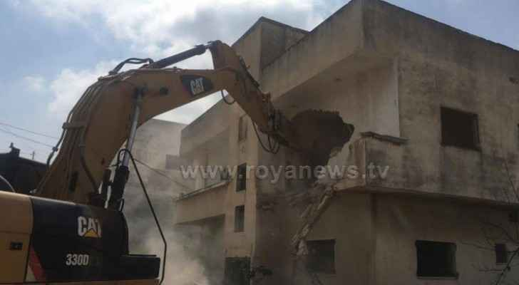 Homes in Irbid demolished for new road