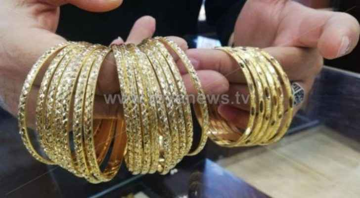 Gold prices continue to rise in Jordan