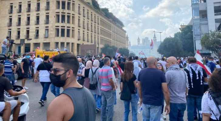 Police fire tear gas as thousands protest in Beirut