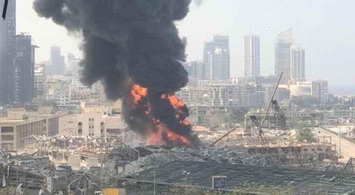 VIDEO: Huge fire in Beirut Port