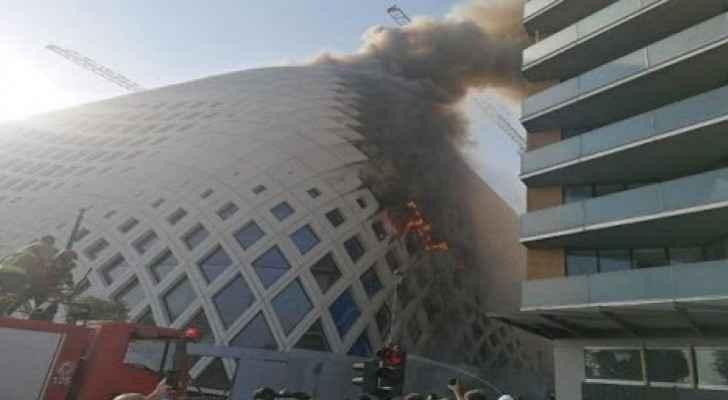 Huge fire erupts in Beirut