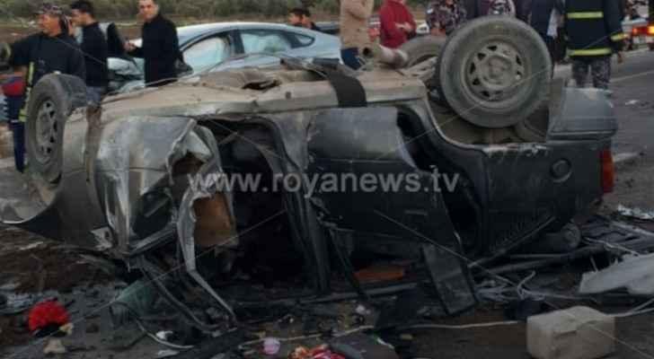 389 car accidents in Jordan on Sunday