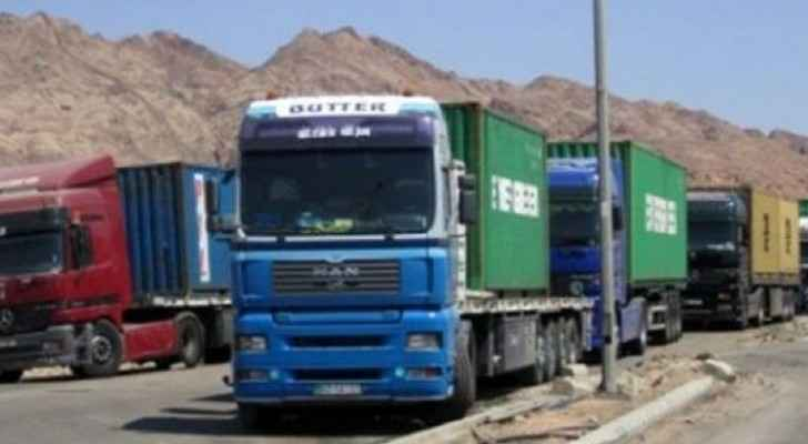 Home quarantine for truck drivers arriving at Al-Omari Border Crossing