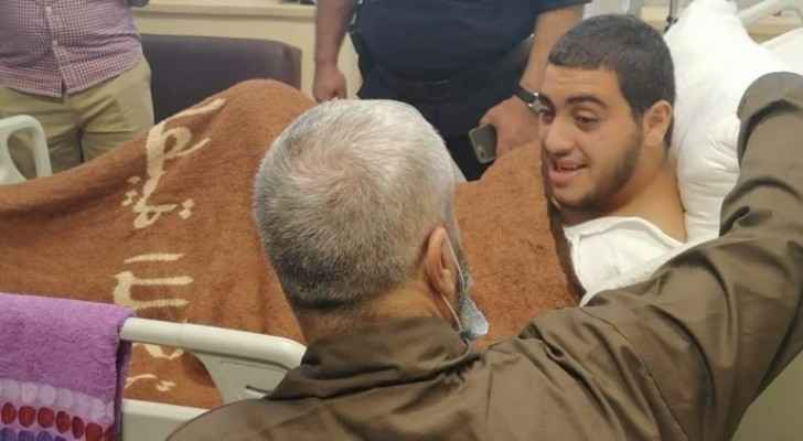 Incarcerated father of Zarqa Crime victim visits son at hospital