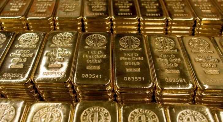 Gold prices fall in Jordan