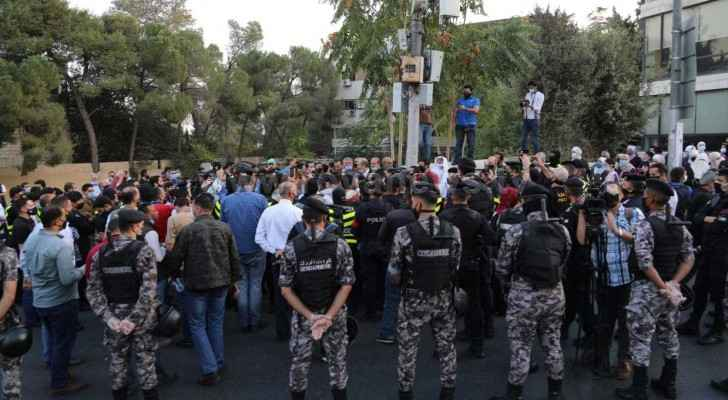 Protests underway near French Embassy