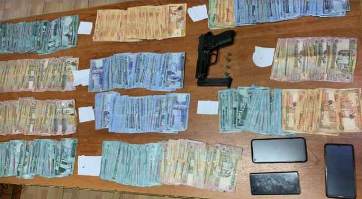 PSD arrests robbers for stealing JD 60,000 from restaurant accountant
