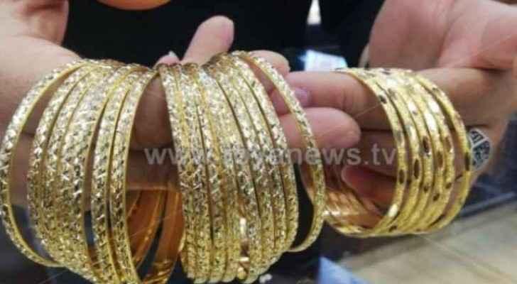 Gold prices rise again in Jordan
