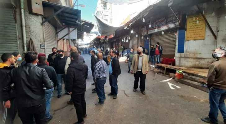Shop owners protest new laws in Downtown Amman