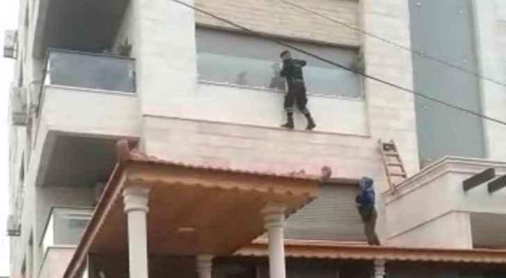 PSD rescues elderly woman stuck on balcony