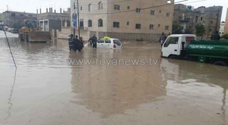 VIDEO: Rain causes flooding in northern Irbid
